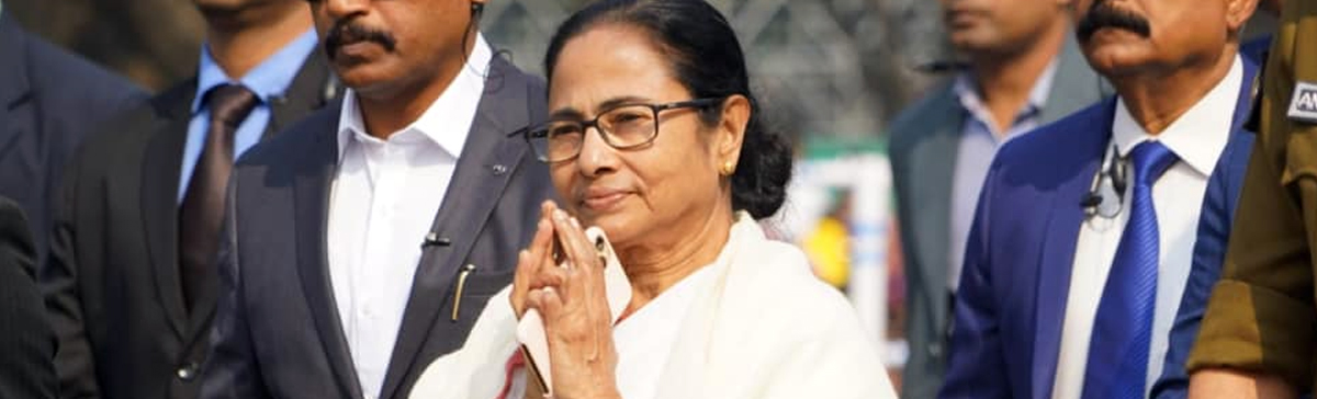 Hon'ble Chief Minister Mamata Banerjee at the 71st Republic Day celebration